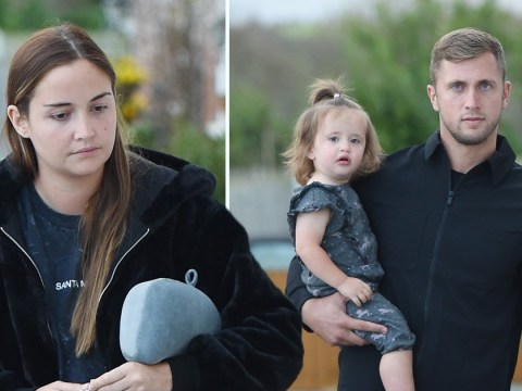 I'm A Celebrity queen Jacqueline Jossa arrives home with Dan Osborne as they maintain united front