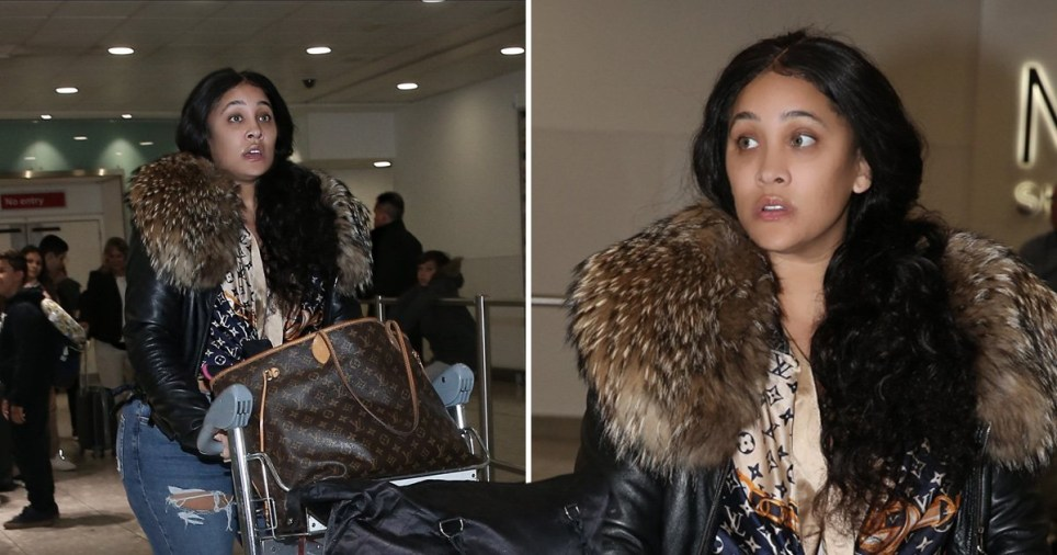 Natalie Nunn on a mission through Heathrow as she lands in UK following explosive Dan Osborne threesome claims