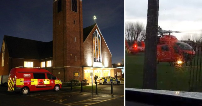 Boy 'seriously burned' at church nativity in London