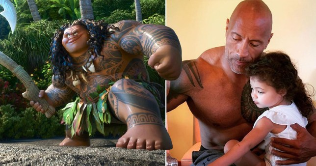 Dwayne 'The Rock' Johnson's 4-year-old hilariously unimpressed with his Moana role and doesn't think he's famous