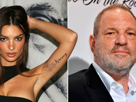 Emily Ratajkowksi paints 'F*** Harvey' on her arm in protest of Weinstein $25m civil settlement deal