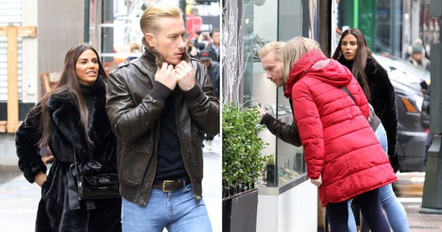 Katie Price shops for discounted diamonds after bankruptcy with Kris Boyson in New York