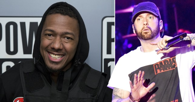 Nick Cannon and Eminem