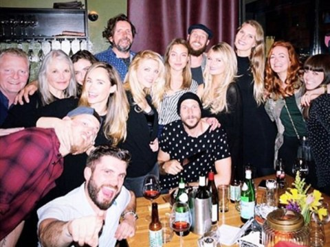 Vikings' Alexander Ludwig goofs around with co-star girlfriend in BTS picture