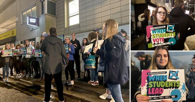 Students protest after hundreds told they're unable to vote