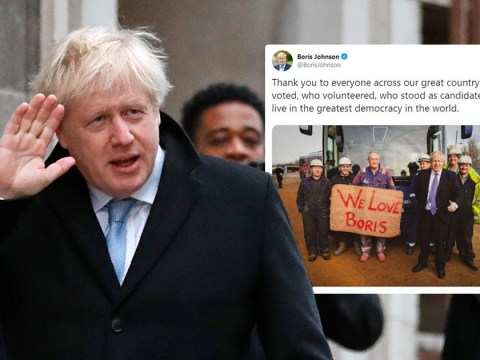 Boris Johnson thanks voters as exit poll predicts huge victory