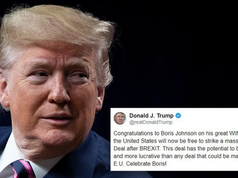 Donald Trump congratulates Boris Johnson for 'great win' in election