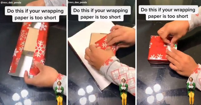 TikTok video shows how to gift wrap when you don't have enough paper