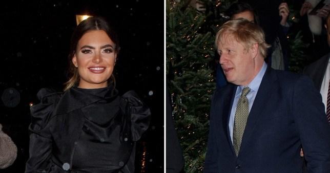 Megan Barton Hanson rubbed shoulders with Boris Johnson