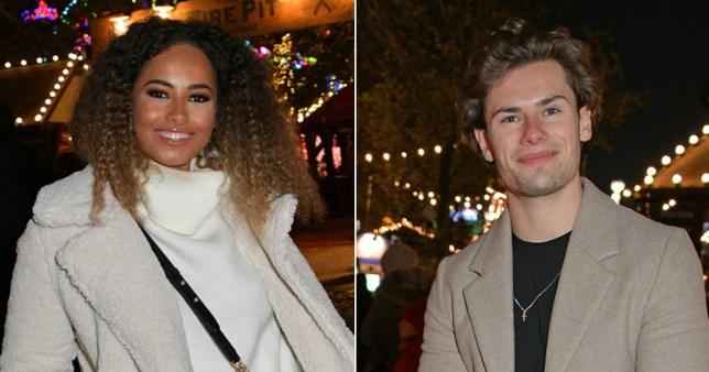 Amber Gill and Joe Garratt get cosy in nightclub