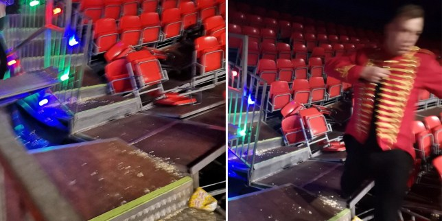 Families flee Winter Funland in terror after seating collapsed (Picture: @SteShone)