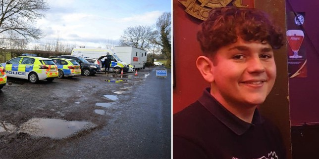 Alex Rodda, 15, from Knutsford, who was found dead outside in Ashley Mill Lane, Ashley, Cheshire, shortly before 8am on Friday (Picture: PA)