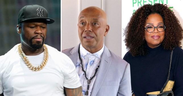Oprah Winfrey 50 Cent Russell Simmons