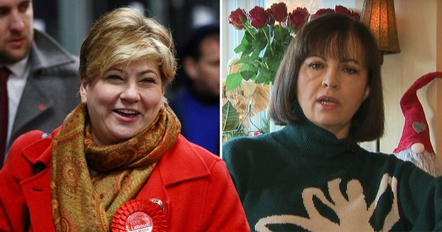 Shadow foreign secretary Emily Thornberry and ousted MP for Don Valley Caroline Flint