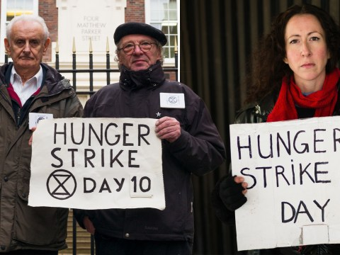 Extinction Rebellion's OAP hunger strikers 'still can't eat properly'
