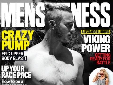 Vikings star Alexander Ludwig brings back top knot in shirtless cover shoot