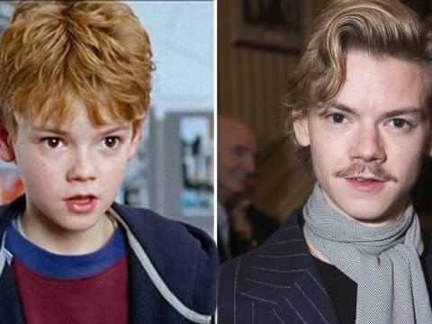 Thomas Brodie-Sangster rocks moustache as mind-blowing Love Actually age fact goes viral