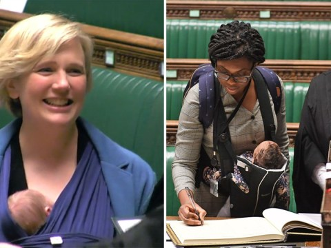 Female MPs formally sworn in while carrying their newborn babies