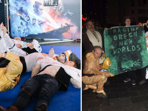 Extinction Rebellion stage 'die-in' on the red carpet at Star Wars: The Rise Of Skywalker premiere