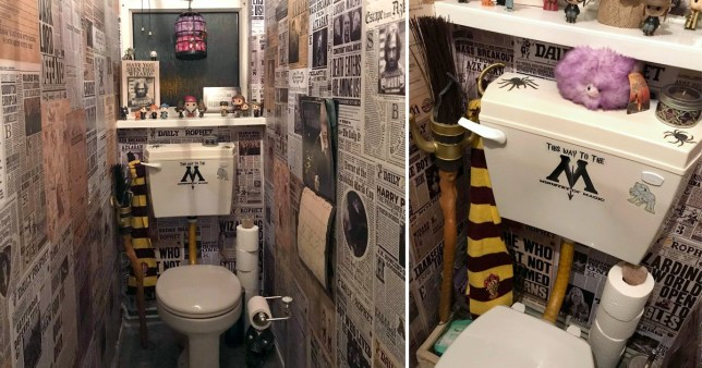 harry potter bathroom transformation