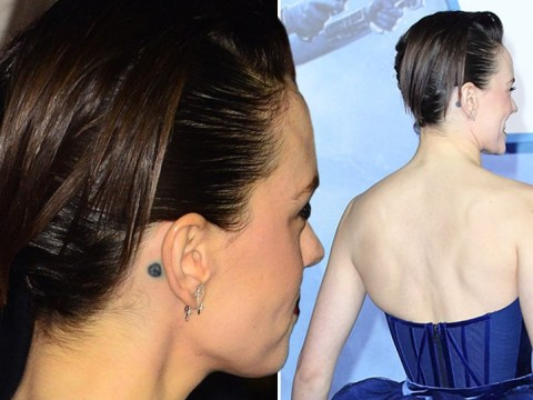 Daisy Ridley shows off peace tattoo as she takes to final Star Wars red carpet as Rey