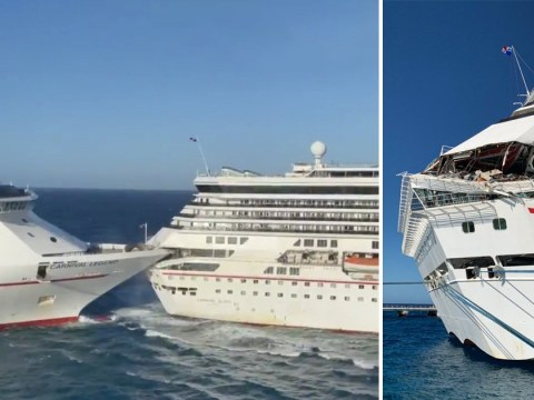 Passengers forced to evacuate dinner as cruise ships collide