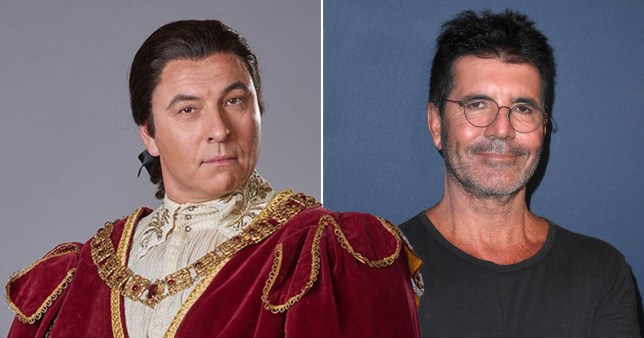 David Walliams in Ever After and Simon Cowell