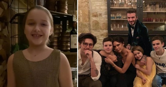 Harper Beckham adorably wishes everyone a merry christmas in sign language