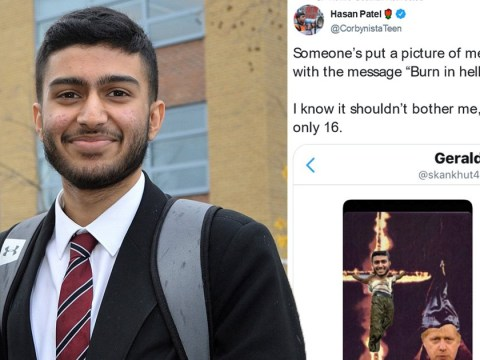 Muslim Labour activist, 16, sent picture of himself burning on cross