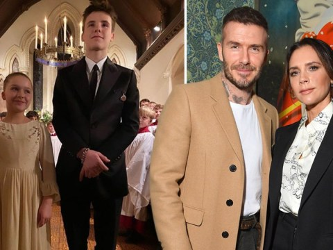Victoria Beckham shares photo of Harper and Cruz's baptism following 'family row' with David's dad
