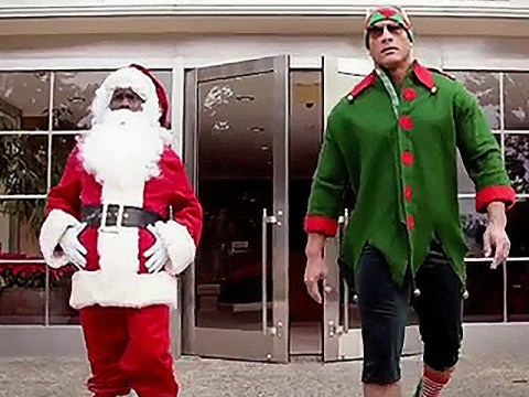 Dwayne 'The Rock' Johnson and Kevin Hart are coming for Santa's job as they get festive