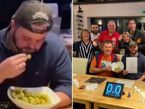 Man breaks record for eating the most Brussels sprouts in one minute