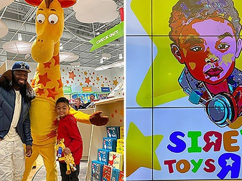 50 Cent rents out toy store and spends much more than 50 cents on shopping spree for son