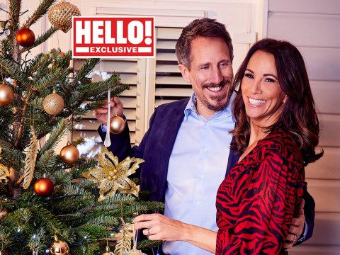 Andrea McLean looks festive with husband Nick Feeney after revealing 'bumpy year' for the couple
