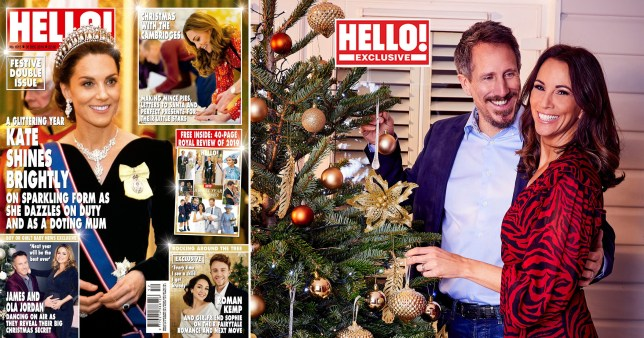 Andrea McLean poses for Christmas spread with husband after admitting they've started couples counselling