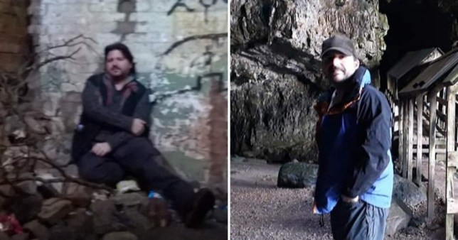Jamie Russel from when he was homeless to when he was enjoying his first holiday in Scotland (Picture: Jamie Russel)