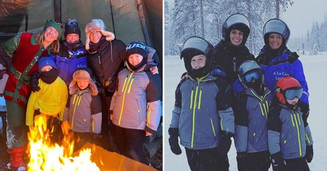 Coleen Rooney takes boys on snow-filled Finland trip