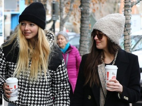 Apple Martin is the spitting image of mum Gwyneth Paltrow as she bonds with Chris's girlfriend Dakota Johnson