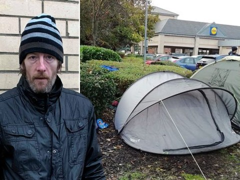 Homeless man will spend Christmas in Lidl car park after mum's death
