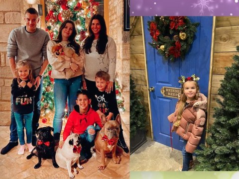Rebekah Vardy gets festive with Jamie and her brood as she nears end of pregnancy
