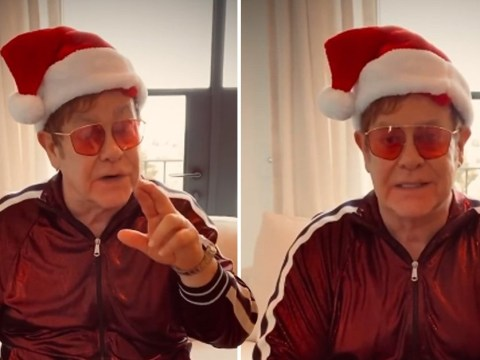Elton John celebrates himself on Christmas Day and reflects on what a good year it's been for him