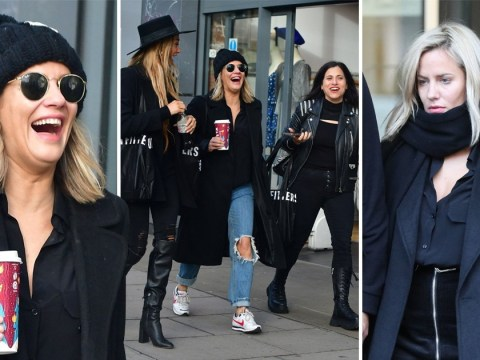 Caroline Flack pictured in high spirits as she goes Christmas shopping after pleading not guilty to assault