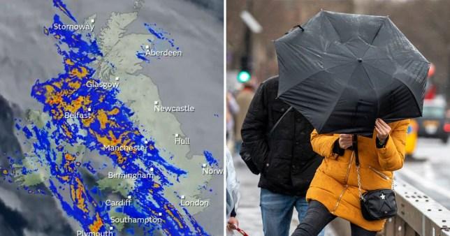 Boxing Day shoppers braced for heavy rain as flood warnings in place across UK