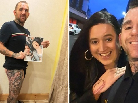 Husband pranks wife by getting picture of her snoring tattooed on thigh