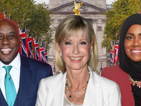Olivia Newton John is made a Dame as she leads Nadiya Hussain and Ainsley Harriott on New Year Honours List