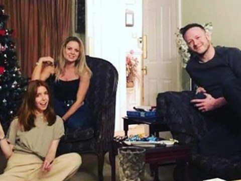 Stacey Dooley and Kevin Clifton look loved-up as they spend first Christmas together as couple