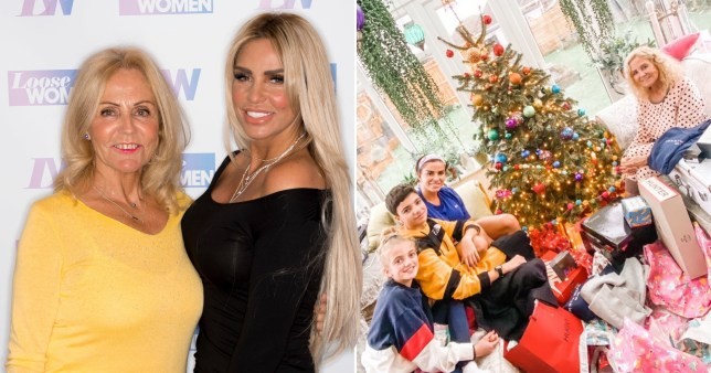 Katie Price and her mother Amy