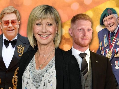 The full 2020 New Year Honours list – From Olivia Newton-John to Ben Stokes