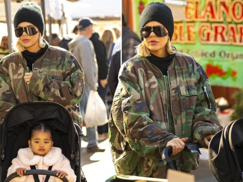 Khloe Kardashian wraps up as she checks out farmers market with True following glitzy Christmas