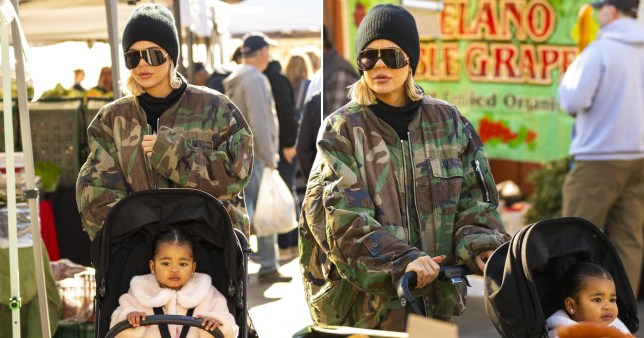 Khloe Kardashian and daughter True